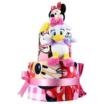 【amazon】ミニー・おむつケーキ♪【名入れ・2段・安い】