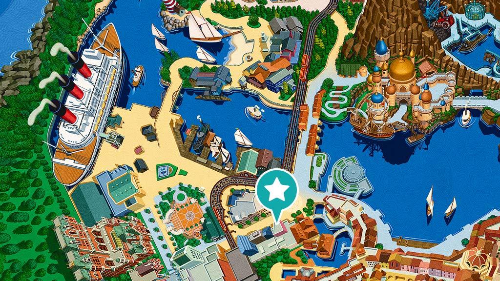 東京ディズニーシー内マップ